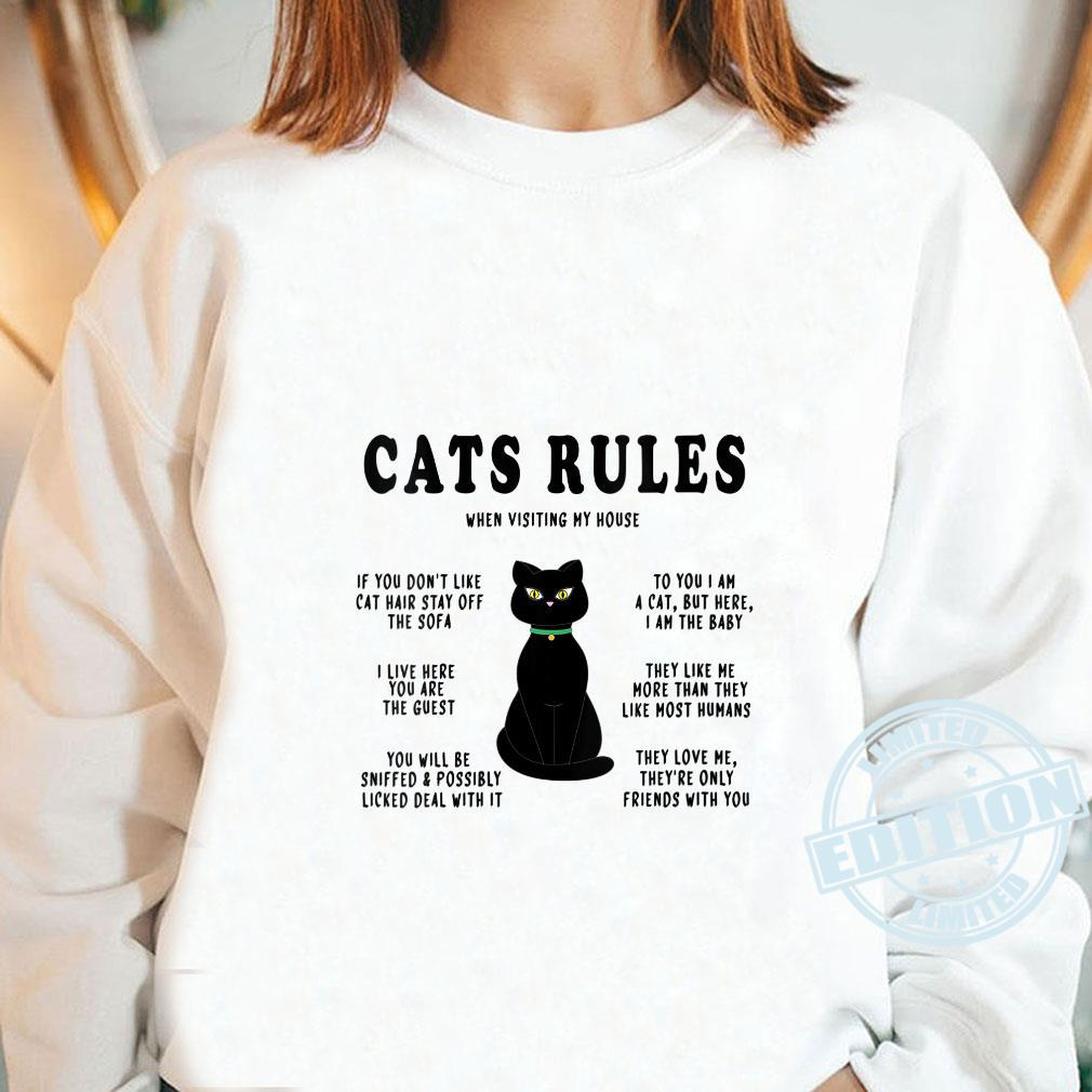 Funny Cats Rules Funny Cat Sayings for Cats Cat Shirt long sleeved