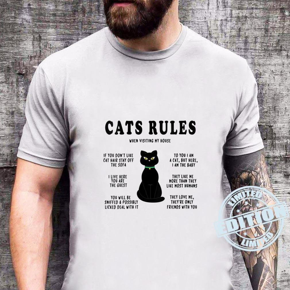Funny Cats Rules Funny Cat Sayings for Cats Cat Shirt sweater