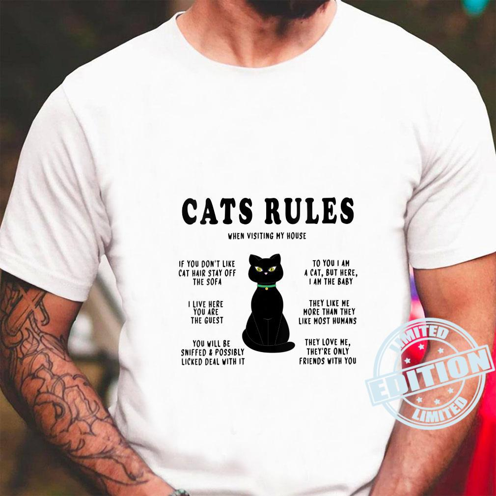 Funny Cats Rules Funny Cat Sayings for Cats Cat Shirt