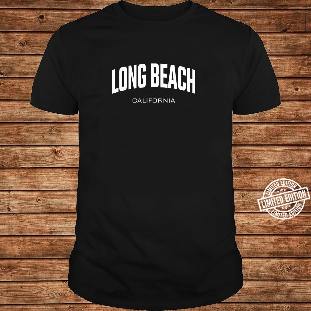 Long Beach California CA vintage state Athletic style Shirt long sleeved