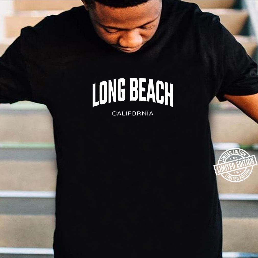 Long Beach California CA vintage state Athletic style Shirt