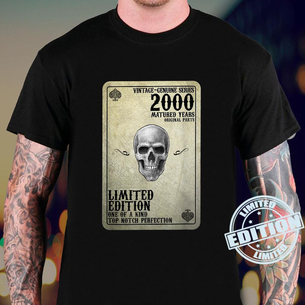 Vintage 2000 Limited Edition 2000 Poker Card 21st Birthday Shirt sweater