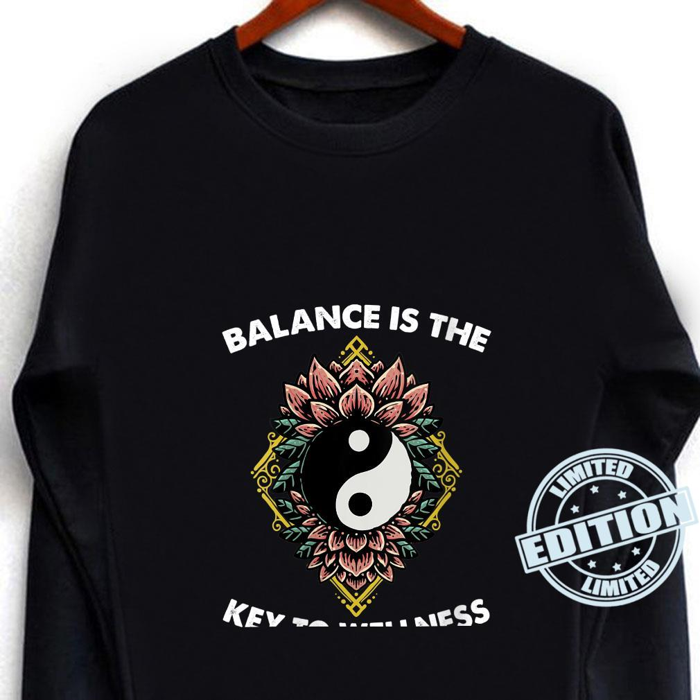 Womens Chinese Medicine Balance Is The Key To Wellness Flowers Shirt long sleeved
